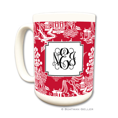 Chinoiserie Red Mug