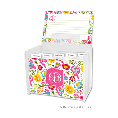 Bright Floral Recipe Box
