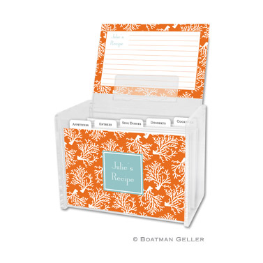 Coral Repeat Recipe Box