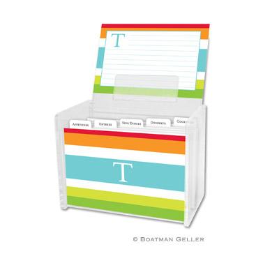 Espadrille Bright Recipe Box