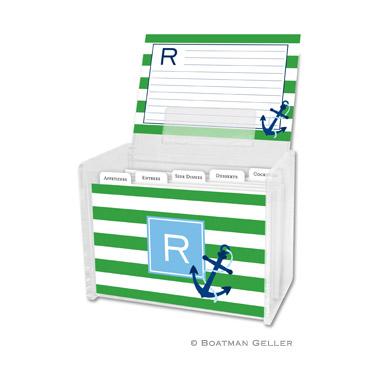 Stripe Anchor Recipe Box