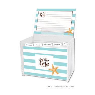 Stripe Starfish Recipe Box