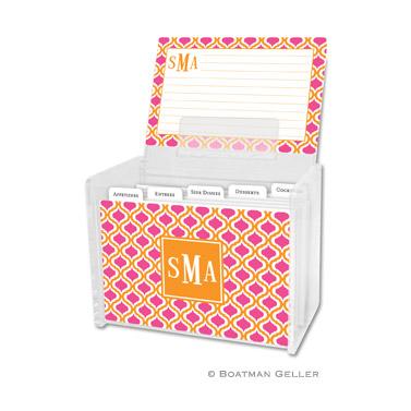 Kate Tangerine & Raspberry Recipe Box