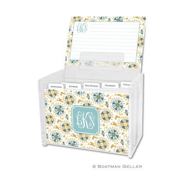 Suzani Gold Recipe Box