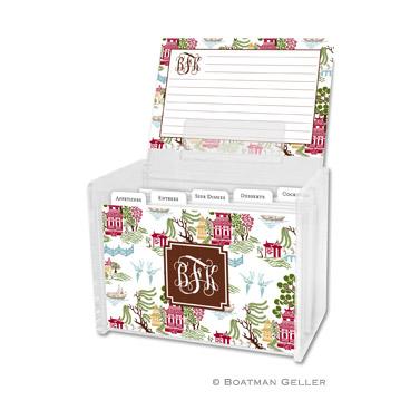 Chinoiserie Autumn Recipe Box