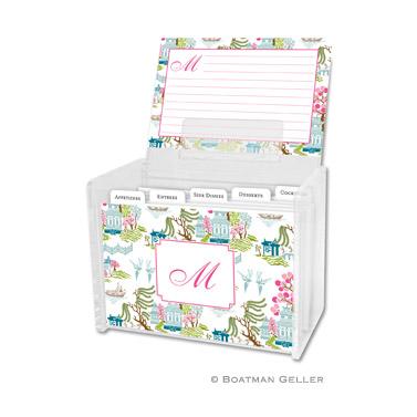 Chinoiserie Spring Recipe Box