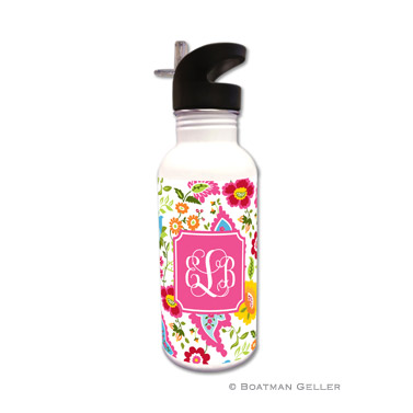 Bright Floral Water Bottle