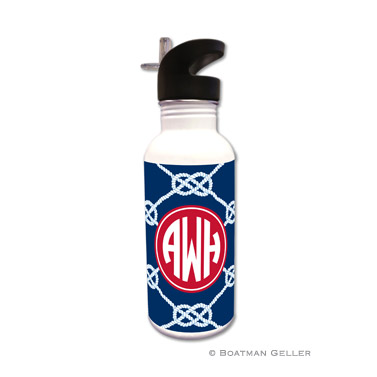 Nautical Knot Navy Water Bottle
