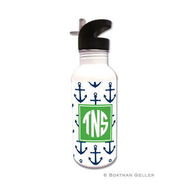 Anchors Navy Water Bottle