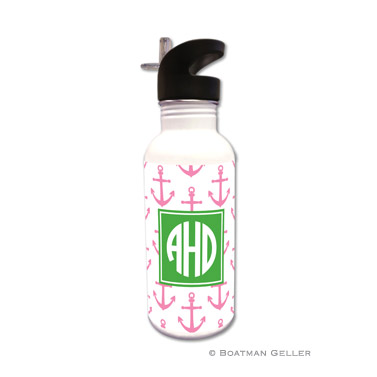 Anchors Pink Water Bottle