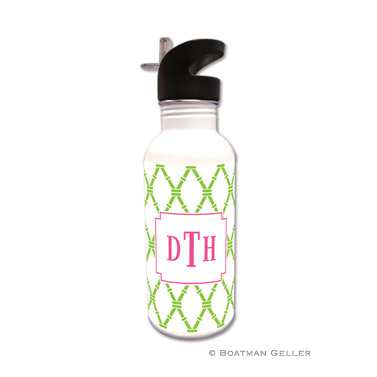 Bamboo Green & Raspberry Water Bottle