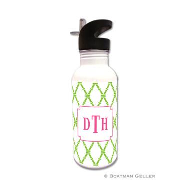 Bamboo Green & Raspberry Water Bottle