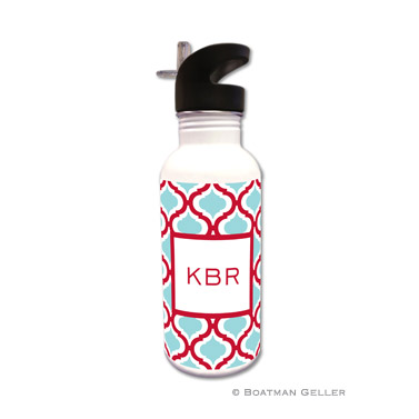 Kate Red & Teal Water Bottle