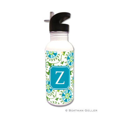 Suzani Teal Water Bottle