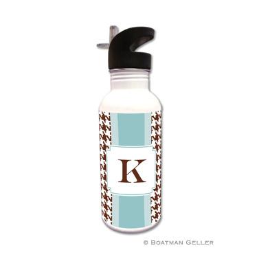 Alex Houndstooth Chocolate Water Bottle