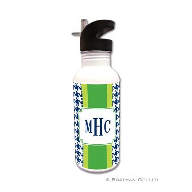 Alex Houndstooth Navy Water Bottle
