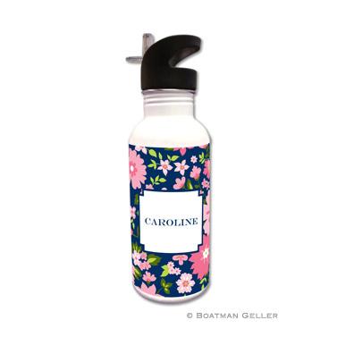 Caroline Floral Pink Water Bottle