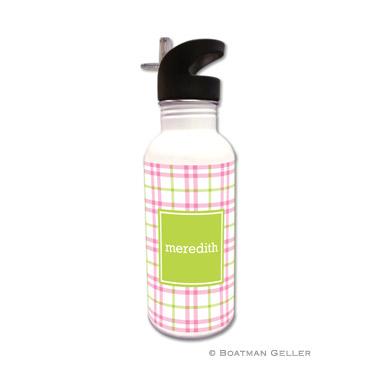 Miller Check Pink & Green Water Bottle