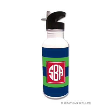 Rugby Navy & Kelly Water Bottle
