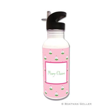 Little Sailboat Pink Water Bottle