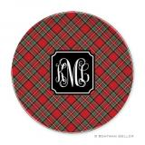 Plaid Red  Holiday Plate by Boatman Geller