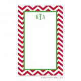 Chevron Red Notepad Personalized by Boatman Geller