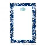 Coral Repeat Navy Notepad by Boatman Geller