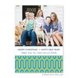 Blaine Turquoise Flat Holiday Photocard by Boatman Geller