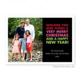 Christmas Wishes Black Flat Holiday Photocard by Boatman Geller