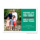 Christmas Wishes Emerald Flat Holiday Photocard by Boatman Geller