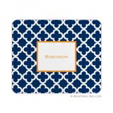 Bristol Tile Navy Mouse Pad by Boatman Geller