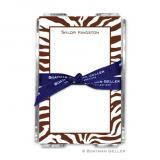 Zebra Chocolate Note Sheets in Acrylic Holder by Boatman Geller