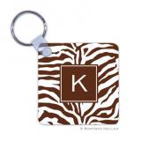 Zebra Chocolate Key Chain by Boatman Geller