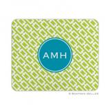 Chain Link Lime Mouse Pad by Boatman Geller