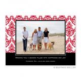 Madison Damask Reverse Flat Holiday Photocard by Boatman Geller