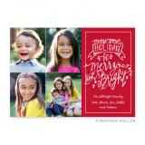 Merry & Bright Cherry Flat Holiday Photocard by Boatman Geller