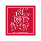 Eat Drink Be Merry Holiday Paper Coasters by Boatman Geller