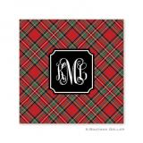 Plaid Red Holiday Paper Coasters by Boatman Geller