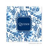 Classic Floral Blue Coasters by Boatman Geller