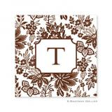 Classic Floral Brown Coasters by Boatman Geller