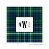 Black Watch Plaid Holiday Paper Coasters by Boatman Geller