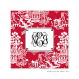 Chinoiserie Red Holiday Paper Coasters by Boatman Geller