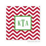 Chevron Red Holiday Paper Coasters by Boatman Geller