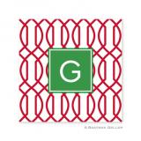 Trellis Reverse Cherry Holiday Paper Coasters  by Boatman Geller
