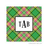 Preppy Plaid Holiday Paper Coasters by Boatman Geller