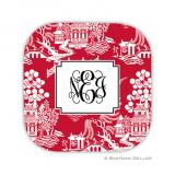 Chinoiserie Red Holiday Coaster - set of 4 by Boatman Geller