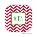 Chevron Red Holiday Coaster - set of 4 by Boatman Geller