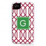 Trellis Reverse Cherry Holiday Cell Case by Boatman Geller
