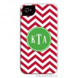 Chevron Red Holiday Cell Case by Boatman Geller
