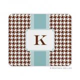 Alex Houndstooth Chocolate Mouse Pad by Boatman Geller